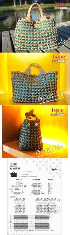 شنطه كروشيه جديده جداا - new crochet bag ~ شغل ابره NEEDLE CRAFTS