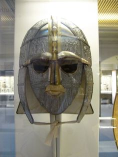 celtic-helm-in-the-british-museum Sutton Hoo, London United Kingdom, British Museum, Ancient History, Helmets, Archaeology, Civilization, The Past, Objects