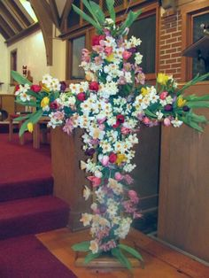 Easter flowering cross... Great for the children of the church to make!  Celebrate Jesus!
