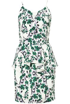Strappy Oriental Green Peplum Dress from Topshop, just another reason to travel to London :D gt my hands on this handsome dress