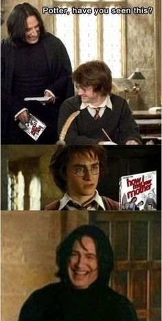 "Snape's favorite show: | 27 Pictures Only ""Harry Potter"" Fans Will Think Are Funny"