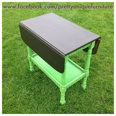 """""""Meet kermit  #ascp #anniesloan #antibes #chalkpaint #dropleaftable #distressed #distressedfurniture #etsy #forsale #green #generalfinishes #generalfinishesjavagel #handpainted #instahome #javagel #loveit #morethanpaint #paintedfurniture #prettyuniquefurniture #refurbished #shabby #shabbychic #rustic #table #upcycled #vintage"""" Photo taken by @prettyuniquefurniture on Instagram, pinned via the InstaPin iOS App! http://www.instapinapp.com (04/17/2015)"""