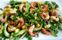 Con aceite de oliva de #CORTIJOS DE ANDALUCÍA. http://www.lasrecetascocina.com/2012/05/24/ensalada-de-langostinos-a-la-plancha/