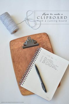 anderson + grant: DIY Clipboard Made From a Cutting Board
