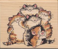 HM Rubber Stamps Penny Black Cats Kittens Penny Black Stamps, Gatos Cats, Cat Character, Beaded Cross Stitch, Amazon Art, Animal Paintings, Cat Love, Cat Art, Cats And Kittens