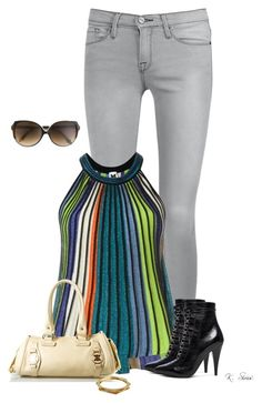 """""""Love this top!!"""" by ksims-1 ❤ liked on Polyvore featuring Frame Denim, M Missoni, Yves Saint Laurent, CÉLINE, Victoria Beckham, Rachel Zoe, women's clothing, women, female and woman"""