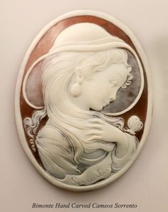 Handcrafted Cameo by Bimonte - Sorrento, Italy Cameo Jewelry, Antique Jewelry, Vintage Jewelry, Jewelry Art, Lost Art, Biscuit, Gravure, Jewlery, Carving