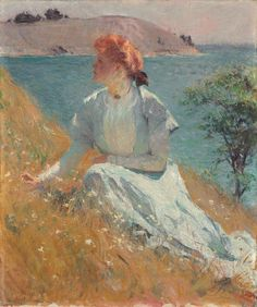 "Frank Weston Benson (American 1862–1951) [American Impressionism, The Ten, Portrait, Landscape, American Bird Artist] Margaret (""Gretchen"") Strong."