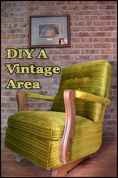 Great tips and ideas to DIY your own vintage area withing your home.  Great way to add character!