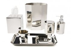 Asscher   Waterworks  - Powder 1 option - like to octagon shape for soap and wastebasket