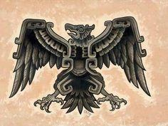 Aztec Eagle by Opie Ortiz Tattoo Designs Canvas Giclee Art Print Aztec Eagle Tattoo, Aztec Warrior Tattoo, Aztec Tattoo Designs, Chicano Tattoos, Body Art Tattoos, Chicano Art, Tattoo Art, Tatoos, Aztec Symbols