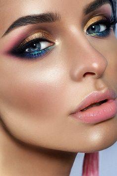 Attractive Highlighter Makeup Pictures - Make Up World Gorgeous Makeup, Pretty Makeup, Love Makeup, Makeup Inspo, Makeup Inspiration, Makeup Looks, Crazy Makeup, Makeup Geek, Makeup Ideas