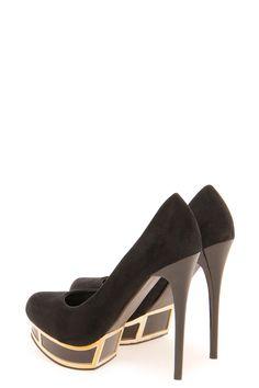 Poppy Metallic Trim Platform Heels
