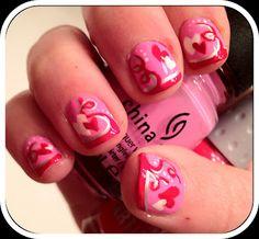 Valentines Day Hearts & Swirls
