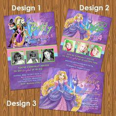Tangled Princess Rapunzel Girl's Birthday Party Invitations. $13.99, via Etsy.