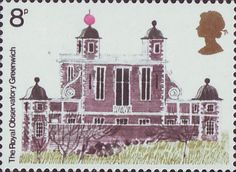 European Architectural Heritage Year 8p Stamp (1975) Royal Observatory, Greenwich