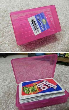 Parce qu'elles ne coûtent quasiment rien, les boîtes à savon sont la solution parfaite pour stocker les petits objets qui ont tendance à se perdre.