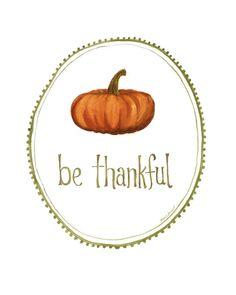 pumpkin thankful