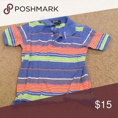 Boys polo shirt size 4 Multi color striped polo shirt, size 4, in excellent condition. Polo by Ralph Lauren Shirts & Tops Polos