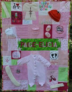 Memory quilt I want to do one like this of some of my son's favorite baby / toddler clothes
