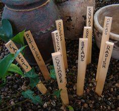 Des marqueurs pour vos plantes