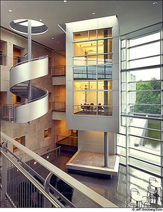 Suspended Staircases at Rowan University, Glassboro, N.J. by Ballinger Architects
