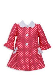 Bonnie Jean  Dot Dress and Coat Set