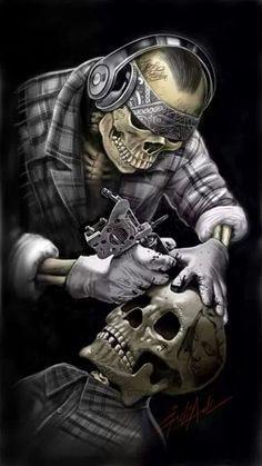 All About Art Tattoo Studio Rangiora. Quality work by Professional Artist. Lowrider Art, Lowrider Tattoo, Tattoo Studio, Tatto Skull, Indian Skull Tattoos, Art Harley Davidson, Tattoo Crane, Totenkopf Tattoos, Kunst Tattoos