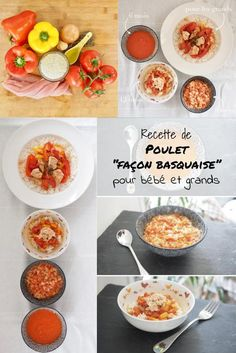 Basque chicken [pour bébé et toute la famille] Pureed Food Recipes, Baby Food Recipes, Chicken Recipes, Stuffed Pepper Soup, Stuffed Peppers, Chicken Baby Food, Baby Cooking, Flavio, Picky Eaters
