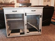 DIY Rustic a Rabbit Cage. Total cost-$30! Made from old dresser