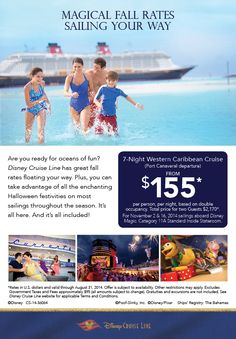 Magical Fall Rates coming your way from Disney Cruise Line.