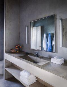 concrete bathroom betonnen badkamermeubel