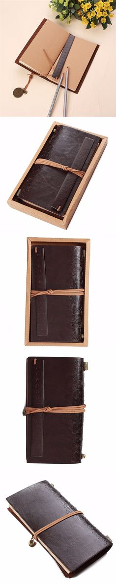 1pcs Retro PU Leather Travel Journal Diary Blank Paper Notebook Agenda Personal Sketchbook Gift Business Office School Supplies