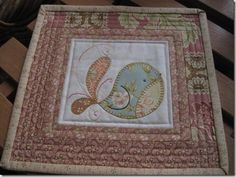Birdy mug rug