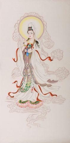 Kwan-Yam on Lotus bedroom decorative #Painting