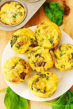 Breakfast Egg Muffins with Mushrooms and Spinach