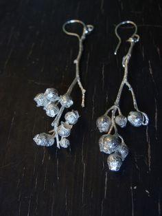 Wild blueberry earrings from www.manidesignsjewelry.com