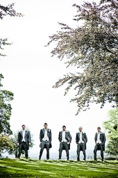 the groom and grooms men at coombe lodge
