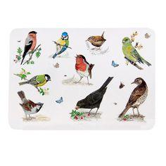 Garden Birds Bordskåner i plast 30 x 45 cm #SPB #ChelseaFlowerShow #Bordskåner #Fugle