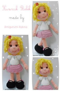 Amigurumi Aşkına: Amigurumi Kıvırcık Saçlı Bebek Yapılışı