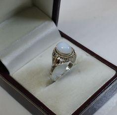 Nostalgischer Silberring 925 mit Achat weiß SR576 von Schmuckbaron