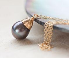 Tahitian Pearl Pendant Black Pearl Luxury Necklace