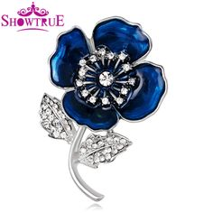 Red Blue Color Flower Poppy Enamel Brooch Lapel Pin Collar Pins for Women Men Jewelry Enamel Pin brooches for wedding bouquets #Affiliate