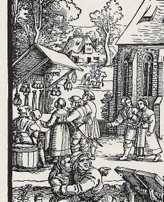 Sebald Beham, große Kirchweih um 1530 Medieval Market, Medieval Life, Renaissance Furniture, High Middle Ages, Landsknecht, Macabre Art, Viking Age, Dark Ages, Middle Ages