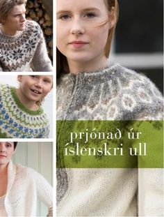 Knitting with Icelandic Wool contains everything you need to know about Icelandic #wool and #knitting in #Iceland. 65 beautiful #patterns - Available in English and Iceland.
