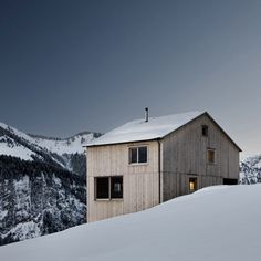 Bernardo Bader Architects sourced pine and spruce from the surrounding slopes to build this picturesque chalet in a village of western Austria.