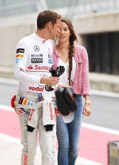 Jenson Button & Jessica Michibata - I like the pink/white/gold combination