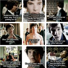 So sassy, Sherlock. :)