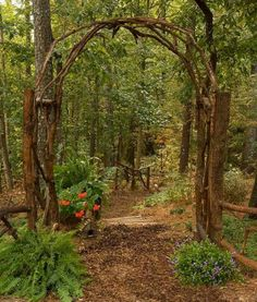 .to let it grow up and over... I've got the vines in the woods to do this... nice