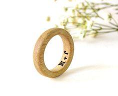 Bague en bois Fig., anneau en bois, bande de bois, Alliance homme, bague de mariage, bague, bijoux de mariage en bois, personnalisés sonneries personnalisées, bijoux naturels